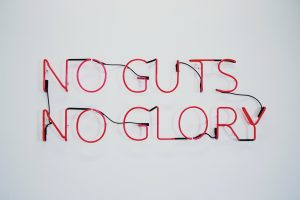 no guts no glory light up sign