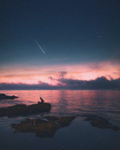 ocean and stars